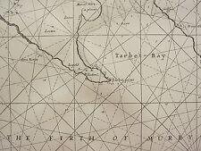 VINTAGE 1753 FACSIMILE COSTIERA CARTA/MAP ~ SCOZIA ROSS FIRTH OF MURRY TARBET