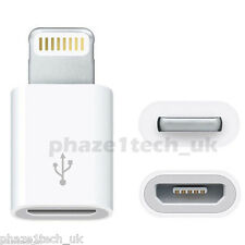 Micro USB to iPhone 5 / 6 / 7 / 8 / X adapter charger universal - Charge Data