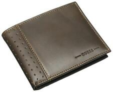 NEW GUESS RODEO BROWN LEATHER PASSCASE BILLFOLD ID CREDIT CARD CASE MEN'S WALLET