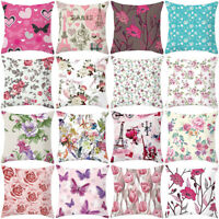 ROSE PEONY FLOWER FLORAL THROW PILLOW CASE CUSHION COVER HOME SOFA DECOR STRICT
