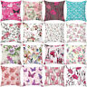 EE_ ROSE PEONY FLOWER FLORAL THROW PILLOW CASE CUSHION COVER HOME SOFA DECOR STR