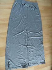 NOOK schöner langer Jerseyrock m. Reißverschlüssen grau Gr. 2 NEU  (HMI 614)