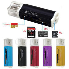 USB 2.0 All in 1 Multi Memory Card Reader For Micro SD SDHC TF M2 MMC MS PRO DUO