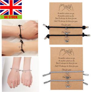 2pcs Attract Couple Bracelets Bracelet Rope Weaving Magnet Love Jewelry Gift Hot