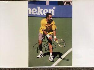 Hand Signed 8 X 12 Australian Tennis Champ Pat Rafter Photograph