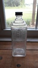 Vintage ESCO DISTINCTIVE EMBALMING Fluid Bottle Mortuary Supplies Funeral Death