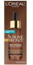 Loreal Sublime Bronze Self-Tanning Facial Drops Fragrance Free 1 Fl. Oz.