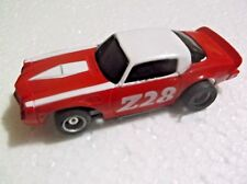 vintage tyco slot car chevy camaro z 28 hp-2 chassis, ho 1/64 afx scale
