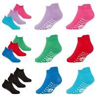Kids Trainer Socks Gripper Sole Ideal For Soft Play Trampolining Gymnastics