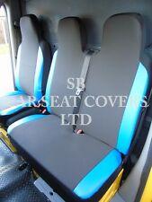 MERCEDES VITO VAN SEAT COVERS (2006) EBONY BLACK+BLUE LEATHERETTE