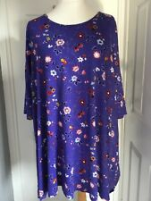 Evans floral tunic top Size 26/28