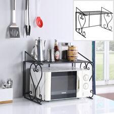 Metal Shelf Microwave Oven Rack Kitchen Organizer Counter Cabinet Storage Sturdy