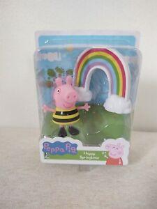 Peppa Pig Happy Springtime  Play Figure Set New Free Shipping