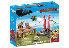 Playmobil 9461 Dreamworks Dragons Gobber the Belch with Sheep Sling MIB / New