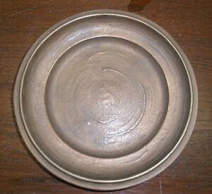 Bronze Teller, Durchmesser ca. 22 cm, alt, Bildgießerei Kraas