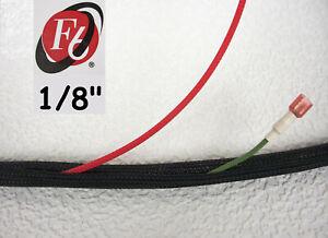 "1/8"" Flexo F6 Braided Cable Sleeving Wrap, Split Loom, Techflex F6N0.13BK"
