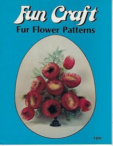Fun Craft Fur Flower Patterns Chenille VTG How to Guide Craft Instruction Book
