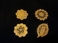 Venise Lace Medallions - Gold Mylar - Lot of 12 for $12.99