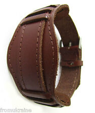 20mm BROWN WATCH BAND OLD ARMY MILITARY Vintage Soviet Russian Genuine Leather