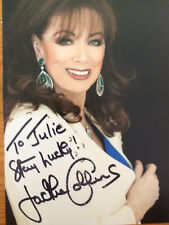 6x4 Hand Signed Photo of Author Jackie Collins OBE