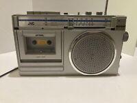 Vintage JVCRadio Cassette Recorder, Player RC-250JW BoomBox AM/FM Auto Stop