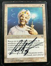 MTG Magic Enlightened Tutor Mirage PORTUGUESE Signed by Artist Dan Frazier MP