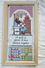 NEW VINTAGE QUILTING PIECES OF LOVE COUNTED CROSS STITCH KIT 8920 W FRAME