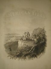 1860's Johnson's Atlas Illustration ~ Settlers Moving West into Indian Lands