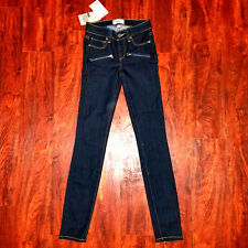 new PAIGE women jeans indio zip blue W24 MSRP $179