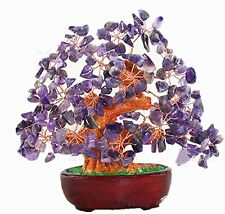 7 Inch Purple Crystal Money Tree Feng Shui Natural Amethyst Quartz Gem Stone