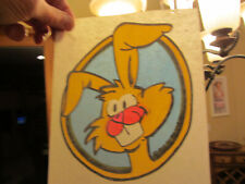 Buck Toothed Bunny vintage 70s iron on t shirt transfer full size