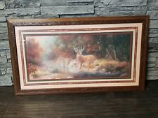 Vtg Homco Home Interiors Buck Deer In Woods Picture