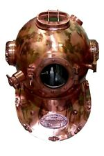 X-Mas 18 Inch Us Navy Diving Helmet Mark V Deep Sea Divers Helmet Vintage Re