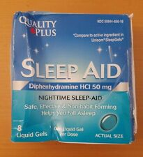 QUALITY PLUS DIPHENHYDRAMINE HCL 50 MG SLEEP AID 8 LIQUID GELS