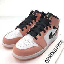 "Nike Air Jordan 1 Mid Pre School ""Pink Quartz"" 640737-603 Size 2Y Shoes New"