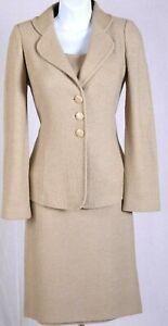 ST.JOHN Women 3Pc. Knit Brown Jacket, Top, & NWT Skirt Sz 4