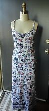 *JUICY COUTURE* Summer Terry Floral Maxi Dress Gold Logo Charms XS