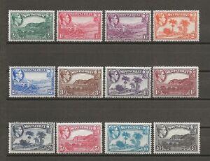 MONTSERRAT 1938-48 SG 101A/112 MNH Cat £110
