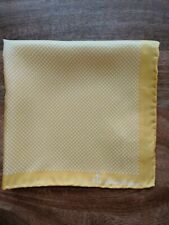 Brooks Brothers Yellow X Pattern Pocket Square Pure Silk New in Package
