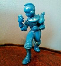 "Vintage 1950's Ajax Archer Space Ranger Spaceman Hard Plastic BLUE 3.5"" Figure"