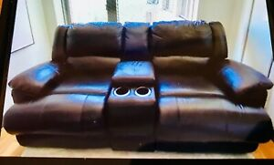 Jennifer Convertible Leather 3 Cushion Sofa & Love Seat Couch - Pick Up ONLY