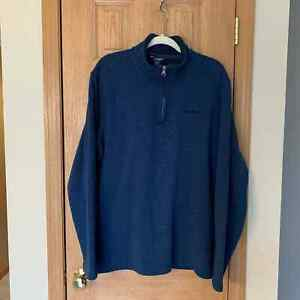 Eddie Bauer Blue 1/4 Zip Pullover Men's Size Tall XL