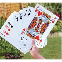 """Jumbo Playing Cards Giant Extra Large Huge 5"""" x 7"""" Big Family Play Game Poker A+"""