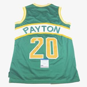Gary Payton signed jersey PSA/DNA Seattle Supersonics Autographed