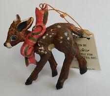 "Vintage House of Hatten Denise Calla Reindeer Christmas Ornament 4"" Nwt"