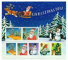 GB 2012 Christmas unmounted mint mini / miniature sheet MNH stamps
