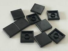 *NEW* 10 Pieces Lego SMOOTH TILE 2x2 BLACK 3068