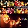 Battery / Plug 20,35 Japanese Lantern Paper Fairy String Lights Lamp Shade Decor
