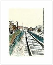 BOB DYLAN ART - TRAIN TRACKS, 2008 (WHITE)