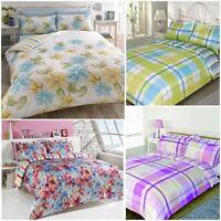 Duvet Bed Pillowcase Bedding Reversible Quilt Case Cover Set King Double Single